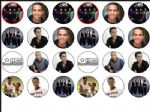 24 x JLS ASTON ETC Rice paper Bun - Cake Tops toppers